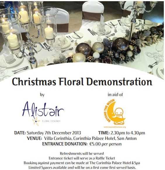 Alistair Christmas Floral Demonstration