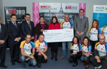 €55,000 donated by ALIVE to benefit a breast cancer research project