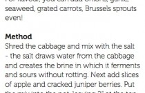 Sensational sauerkraut