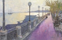 Henry Falzon, painter en plein air, studio narrative landscapes.