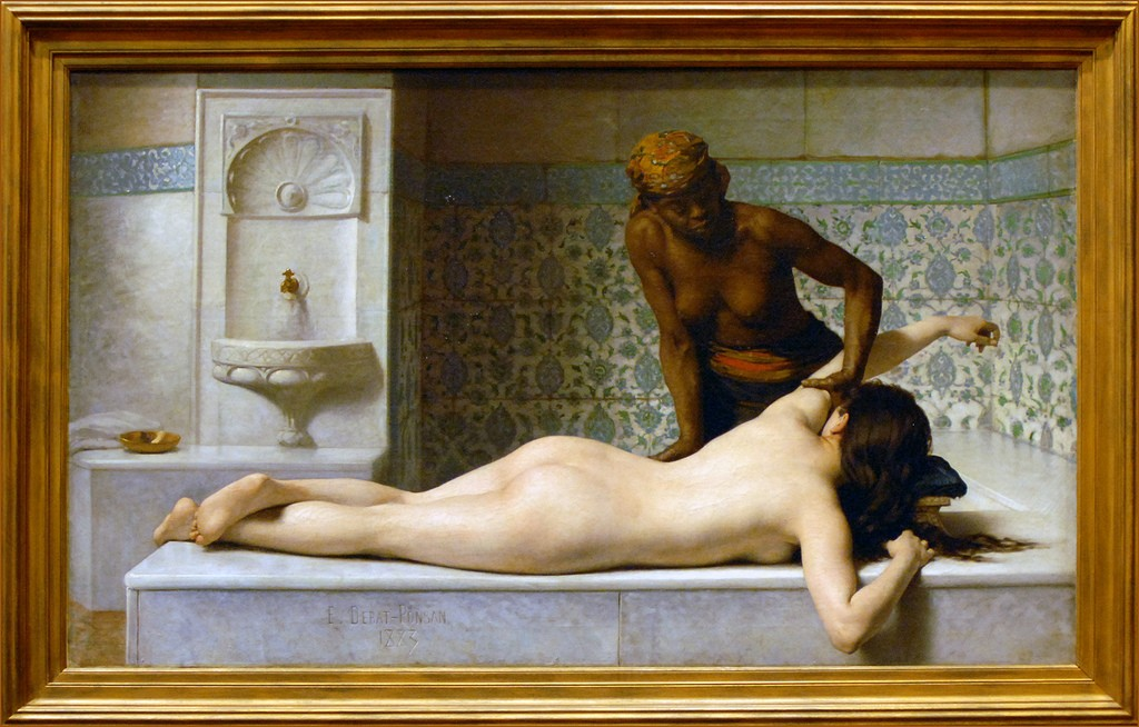 Le massage - scene de hammam - musee des Augustins Toulouse - photo by Jean-Pierre Dalbéra