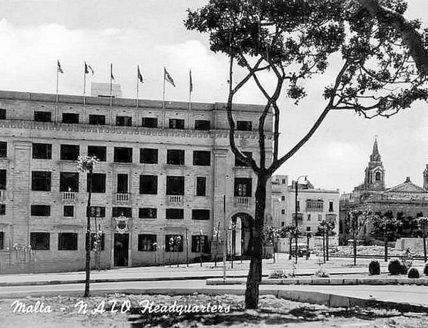 NATO headquarters at Floriana Malta 1950s