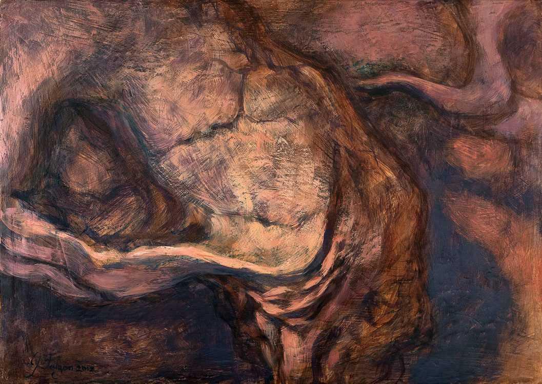 justin-falzon-oils-on-wood-skullscape