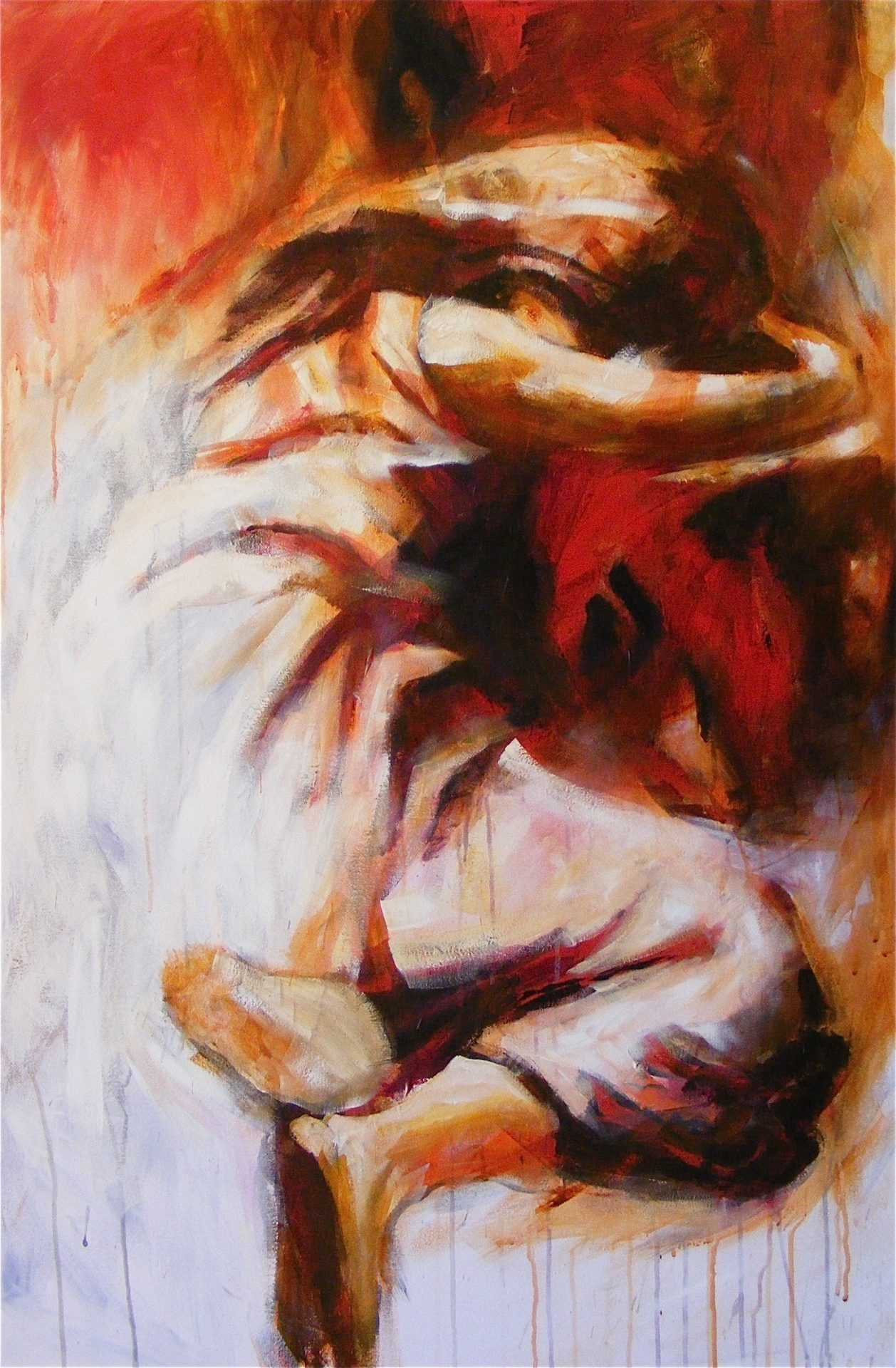 Acrylics on canvas 120cm by 80cm