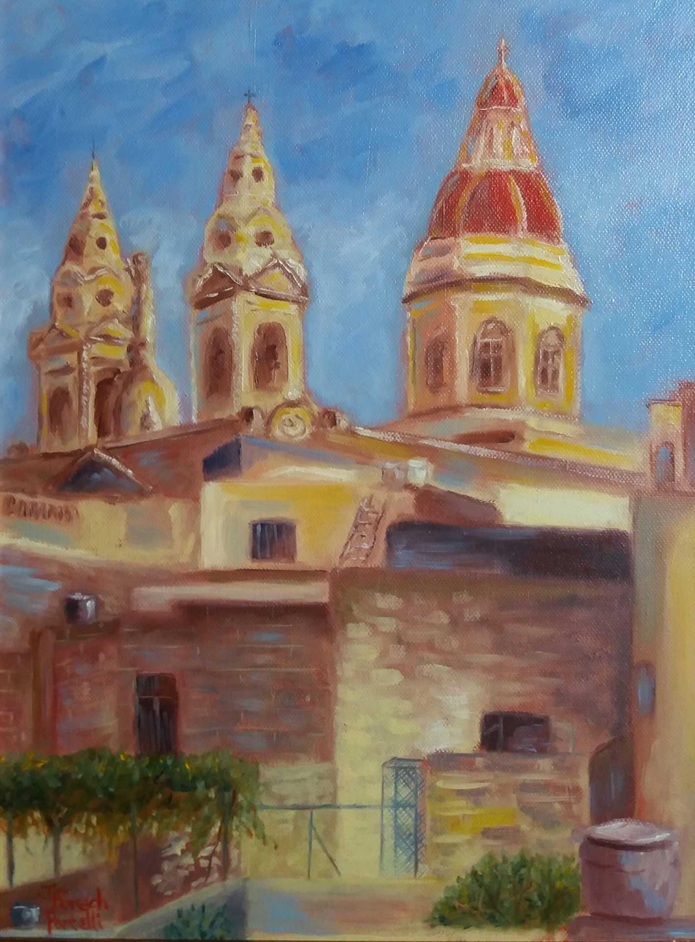 Joanne Fenech Portelli - Luqa Church & Rooftops