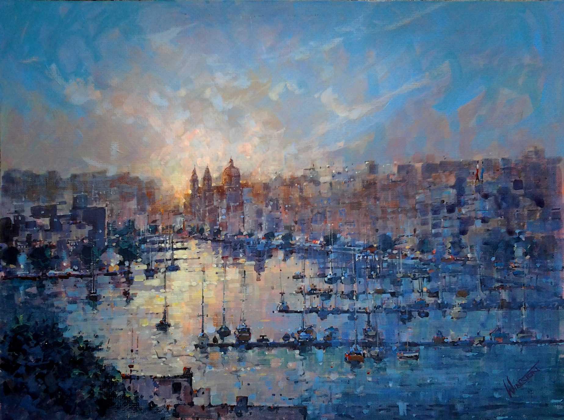 sunset_over_msida_malta