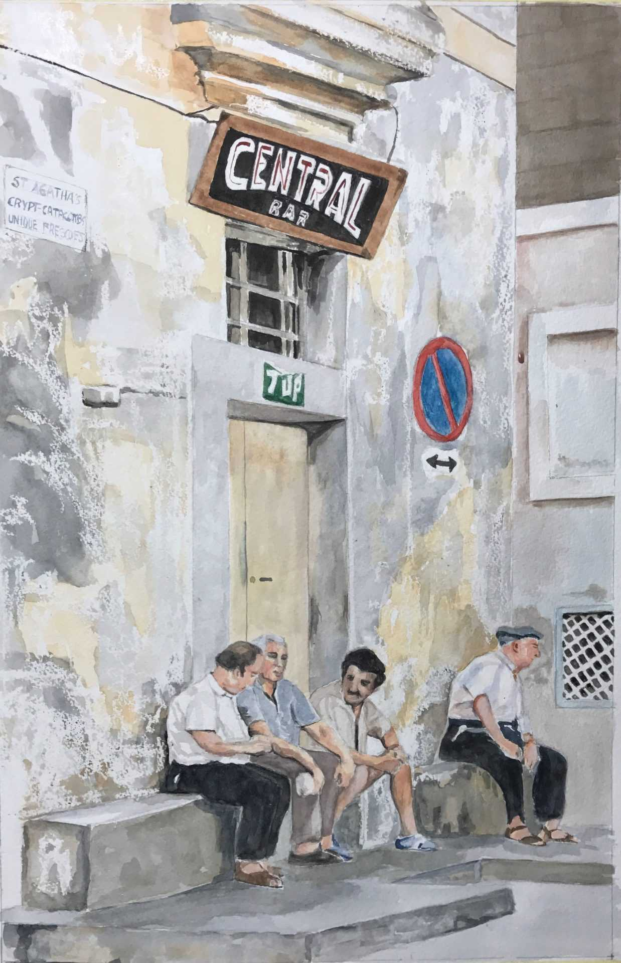Central Bar in watercolour