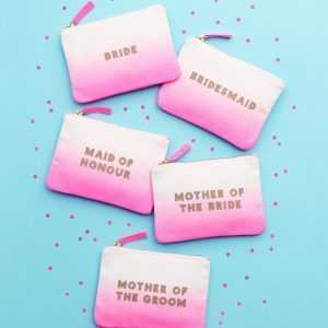 Wedding Pouches Ombre – Mother of the Groom