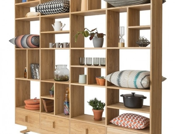 Luca shelving unit in oak