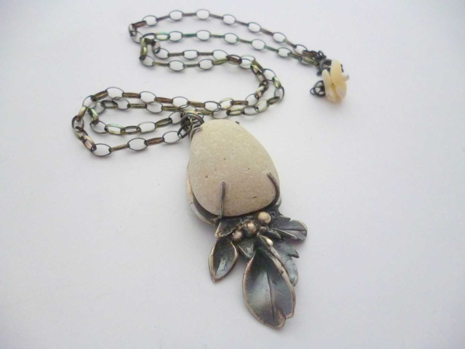 Silvana Mallia - White Pebble Pendant