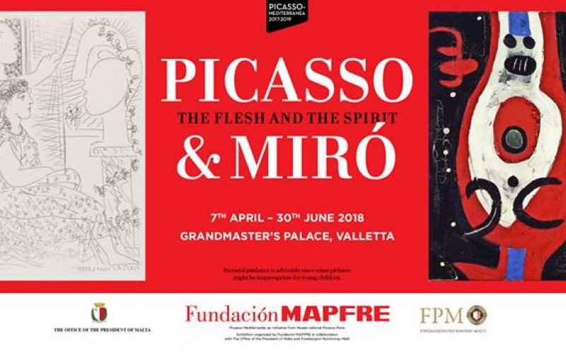 PIicasso and Miró, The Flesh and the Spirit, in Valletta