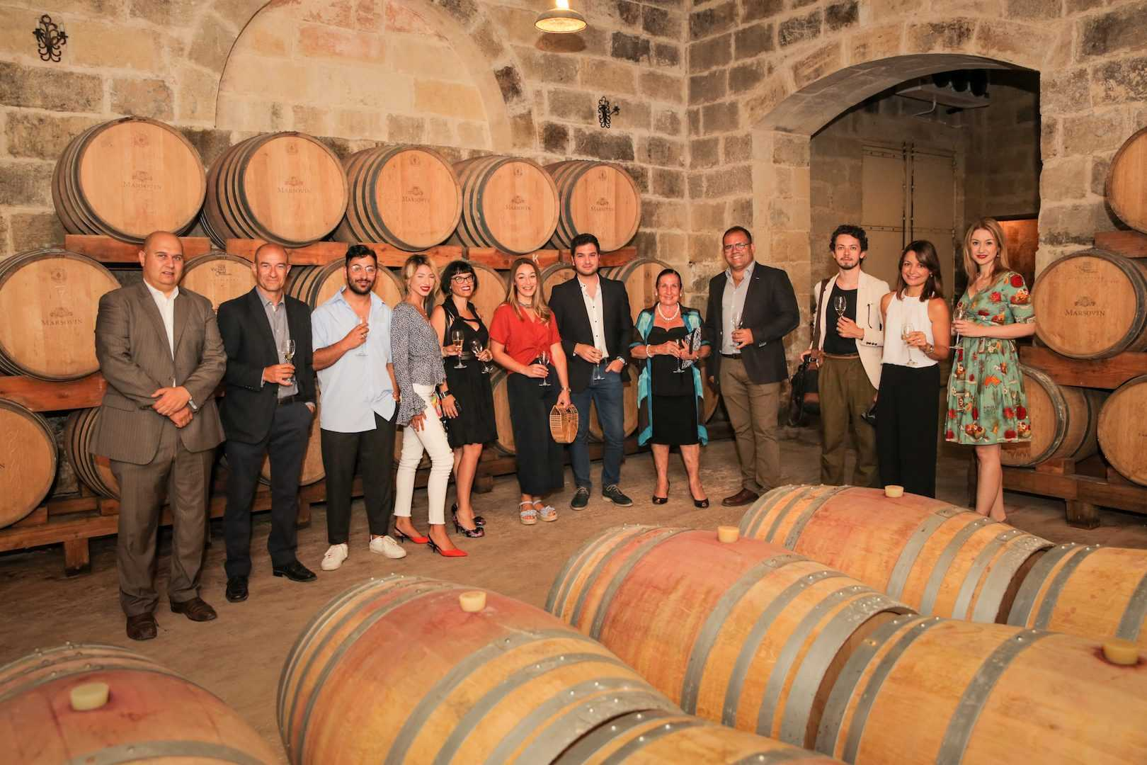 The guests in the Marsovin Cellars © Photography credits- Michael Calleja copy