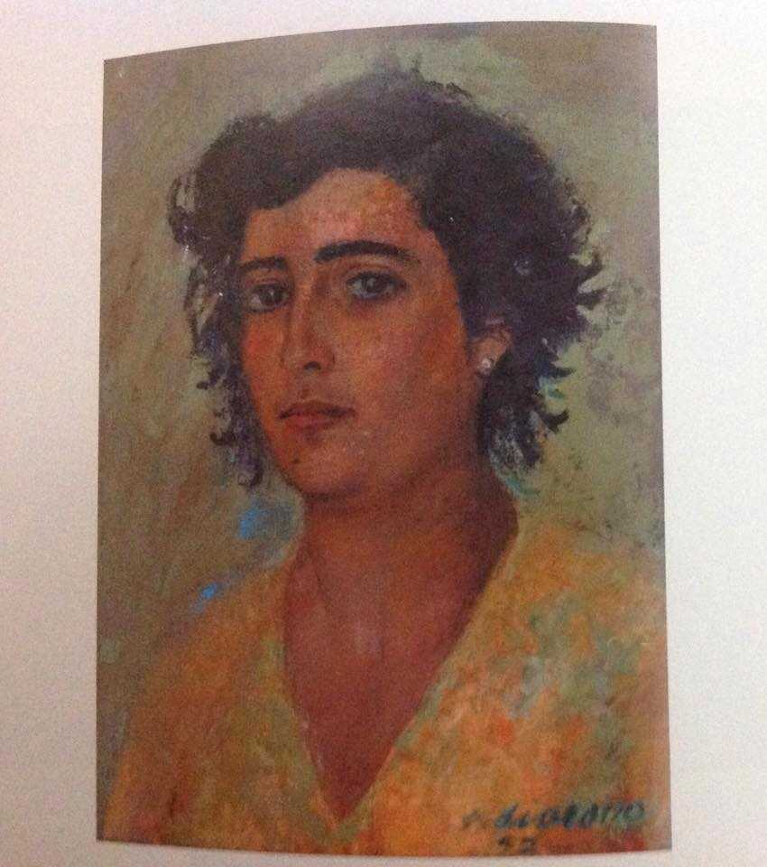 Victor's wife, Antoinette. Oil on Board, signed 1952, 40 x 30 cm