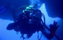 Golden Girl Goes Diving Down