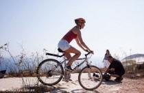 Golden Girl gets on her bike