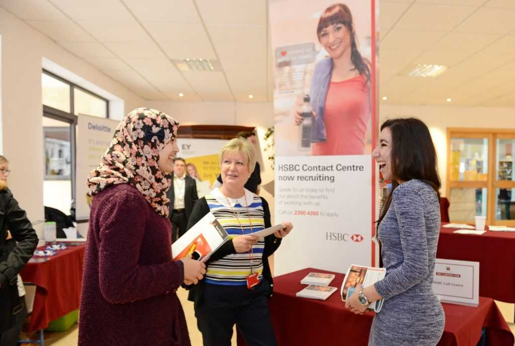 St Martin's students get a glimpse at life at HSBC Contact Centre