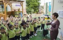 Kindergarten transforms school area into an ecological haven