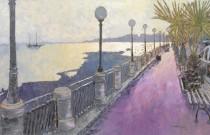 Henry Falzon, painter en plein air, studio narrative landscapes.