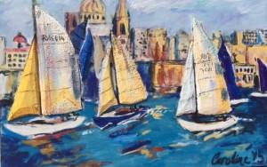 Caroline Navarro, sails, sailing, painting,