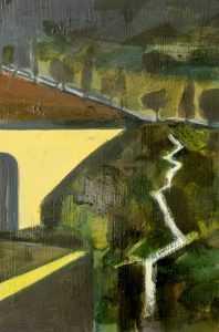 Pioggia, Oil on wood,  Jesmond Vassallo, Maltese, art, artist, artwork,