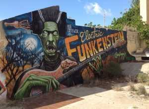 Electric Funkenstein, aerosol paint, street art, art, artwork,  Seapuppy