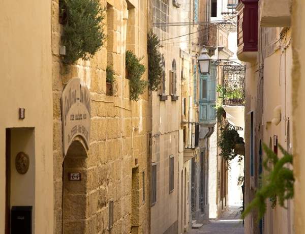 Narrow street of victoria gozo by Pierre Richer