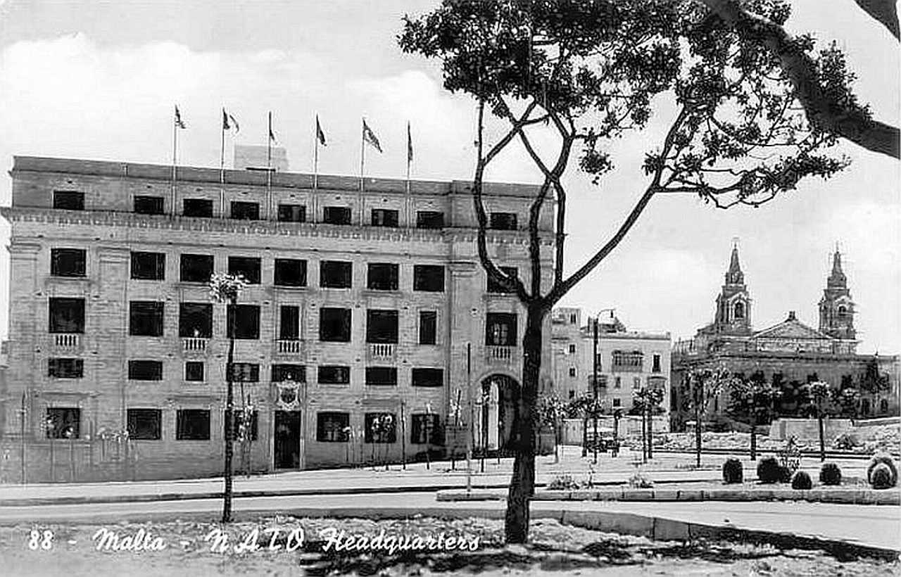 NATO headquarters at Floriana Malta 1950s